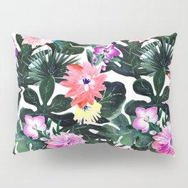 Lush Tropical Floral Pillow Sham