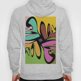 Four Faces Abstract Hoody