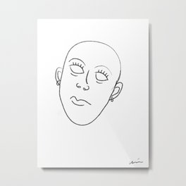the empty eyes Metal Print