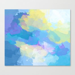 Colorful Abstract - blue, pattern, clouds, sky Canvas Print