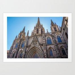 Catedral de Barcelona Art Print