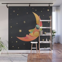 Imaginative Moon Wall Mural