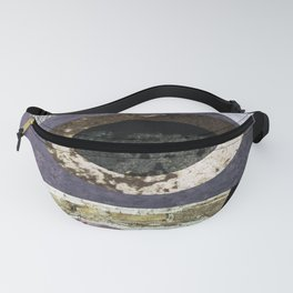 abstract art minimal moon space Fanny Pack