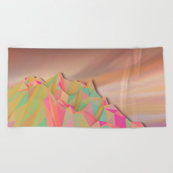 Night Mountains No. 22 Beach Towel