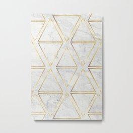 gOld rhombus Metal Print