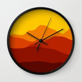 Mountains at Sunset  #society6 #decor #buyart #artprint Wall Clock