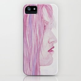 Woman Portrait Watercolor iPhone Case