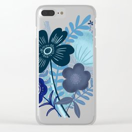 Summer Blues Clear iPhone Case