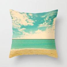 Retro Beach Throw Pillow