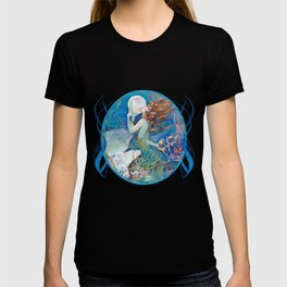 Sensual Art Deco Pearl Mermaid T-shirt