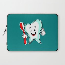 Dental Care happy Tooth with Toothbush Laptop Sleeve