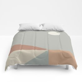 Geometric Landscape 02 Comforters