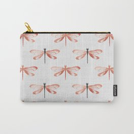 Rose Gold Dragonfly Carry-All Pouch