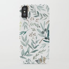 Eucalyptus pattern iPhone Case