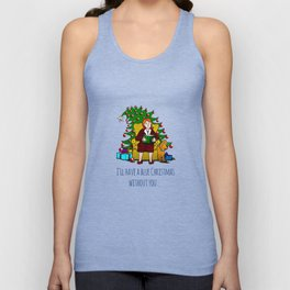 A Blue Christmas Unisex Tank Top