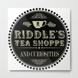 Riddle's Tea Shoppe Victorian Design Metal Print