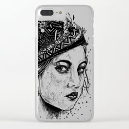 Side glance Clear iPhone Case