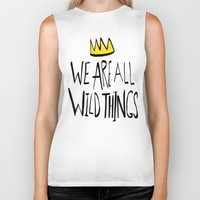 wild things Biker Tanks featuring Wild Things II by Leah Flores