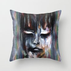 Paint a Gril Throw Pillow