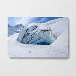 Glacier Cave Metal Print