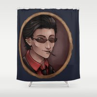 crowley Shower Curtains featuring Crowley by Abbi Laura