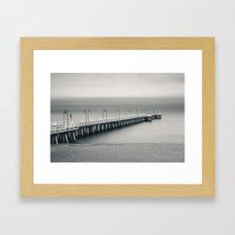 silent pier Framed Art Print