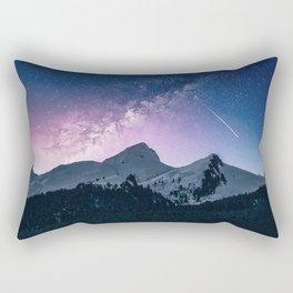 Mountains & Milky Way Rectangular Pillow