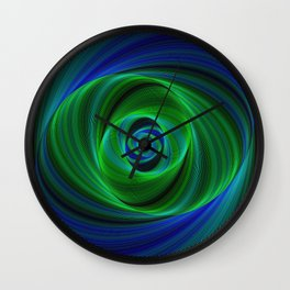 Green blue infinity Wall Clock