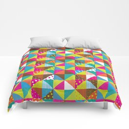 Crazy Squares Comforters