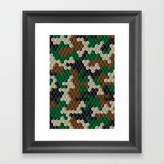 Cubouflage Framed Art Print