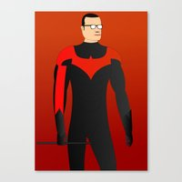 nightwing Canvas Prints featuring Nightwing by pablosiano