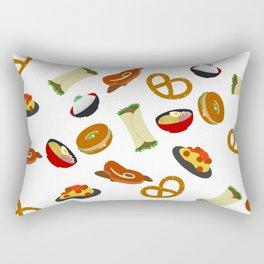 all the food Rectangular Pillow