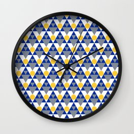 Modern Winter Pattern Wall Clock