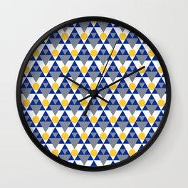 Modern Winter Pattern Wall Clock