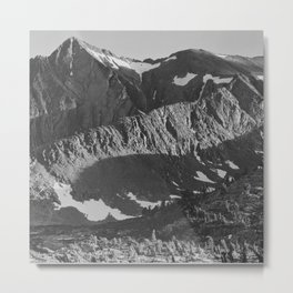 Peak above Woody Lake, Kings River Canyon Metal Print