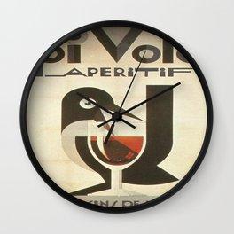 Vintage poster - Pivolo Aperitif Wall Clock