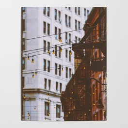 New York City Buildings and Lights (Color) Poster