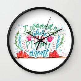 I Don't Like People Wall Clock