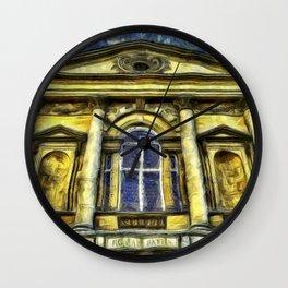 Roman Bath Van Gogh Wall Clock
