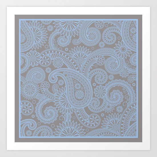 Paisley Mist Art Print