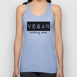 Vegan nothing else black letters Unisex Tank Top