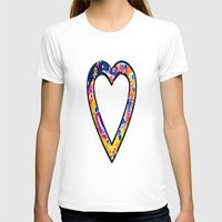 grafitti T-shirts featuring Heart in bright sunny colours by NatalieCatLee