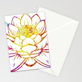 Watercolor Lotus Stationery Cards