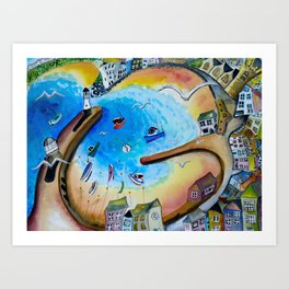 View from the Tate, St. Ives Art Print