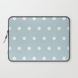 Small White Dots on BBLue Laptop Sleeve