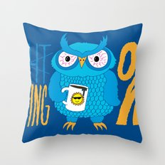Morning Owl Throw Pillow