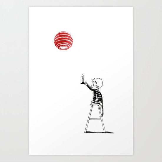 Boy with a Candle Art Print