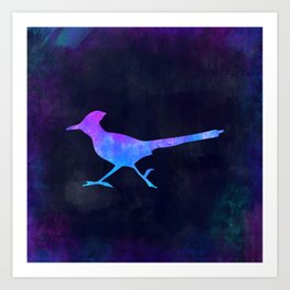 ROADRUNNER IN SPACE // Animal Graphic Art // Watercolor Canvas Painting // Modern Minimal Cute Art Print