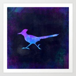 ROADRUNNER IN SPACE // Animal Graphic Art // Watercolor Canvas Painting // Modern Minimal Cute Art Print
