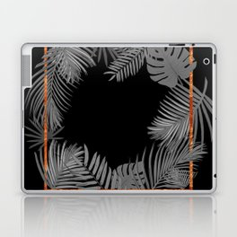 TROPICAL SQUARE COPPER BLACK AND GRAY Laptop & iPad Skin